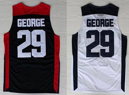 #29 Paul George Jersey white blue 2012 Olympic Games USA Dream Team Jersey mens basketball jersey Authentic Aimee Smith Store(China (Mainland))
