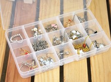 15 Grids Adjustable Plastic Jewelry Storage Case Box Makeup Cosmetic Accessory Beads Candy Pills Organizer Organizador Container(China (Mainland))