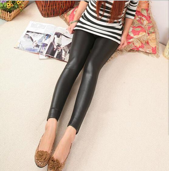 Восток вязание kc03 новая мода зима женщин леггинсы кожаные шерсти теплые леггинсы брюки
