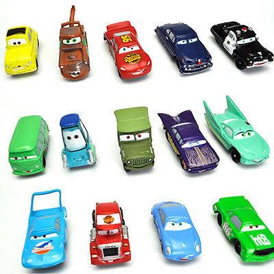 Hot Set de 14 piezas Pixar Cars Rayo Mater Sally Luigi Cars Sheriff Rey(China (Mainland))