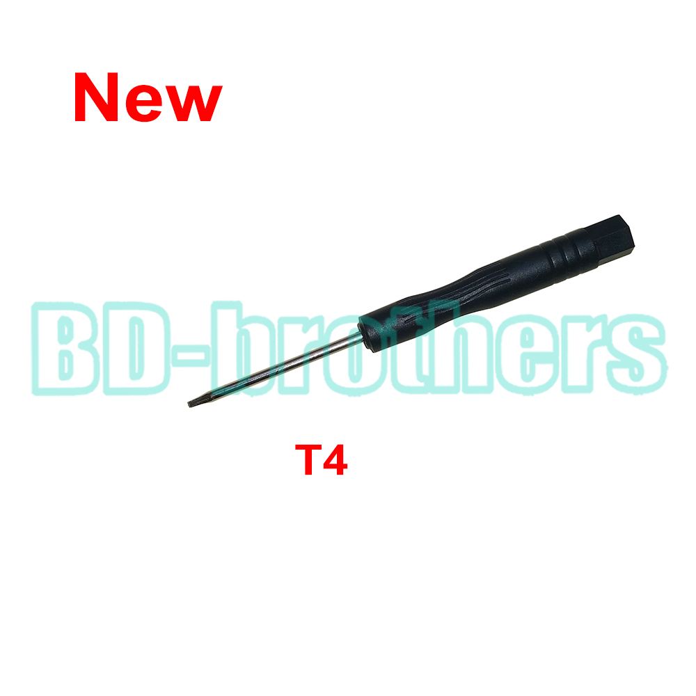 2016 New Black T4 Screwdriver Torx Screw Drivers Tool for Moto Phone Notebook Hard Drive Circuit Board Repairing 1000pcs/lot(China (Mainland))
