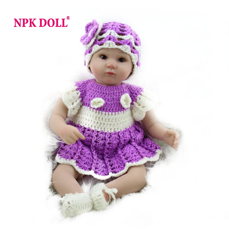 NPKDOLL 17 inches Soft Silicone Reborn Baby Doll Baby Alive Doll For Girls Vinyl Stuffed Toys Play House Toys(China (Mainland))