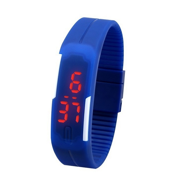Light-Up Toys Sport LED Watch Candy Color Silicone Rubber Touch Screen Digital Watches Waterproof Wristwatch Dress Bracelet gift