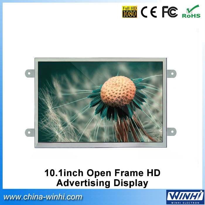 10inch real 1080P retail store equipment lcd digital signage tv H.264 high definition media player for supermarkets(China (Mainland))