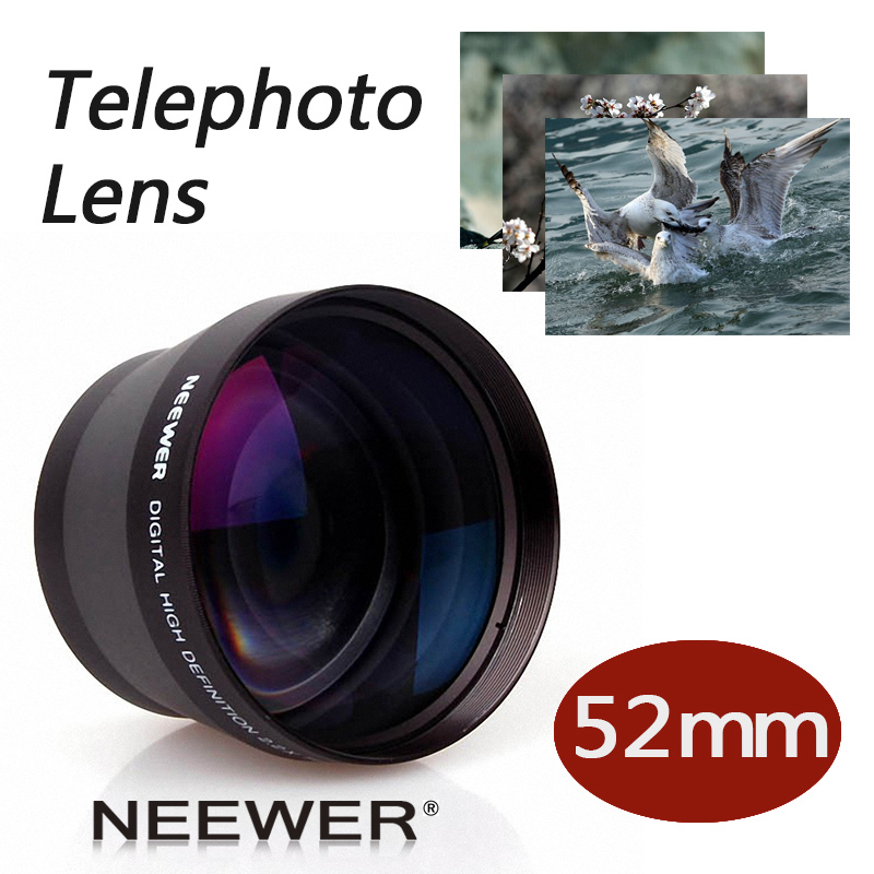 Neewer 52mm 2X Telephoto <font><b>Lens</b></font> for or <font><b>Nikon</b></font> D3100 D5200 D5100 D7100 D90 D60 and Other DSLR Camera <font><b>Lenses</b></font> with 52MM Filter Thread