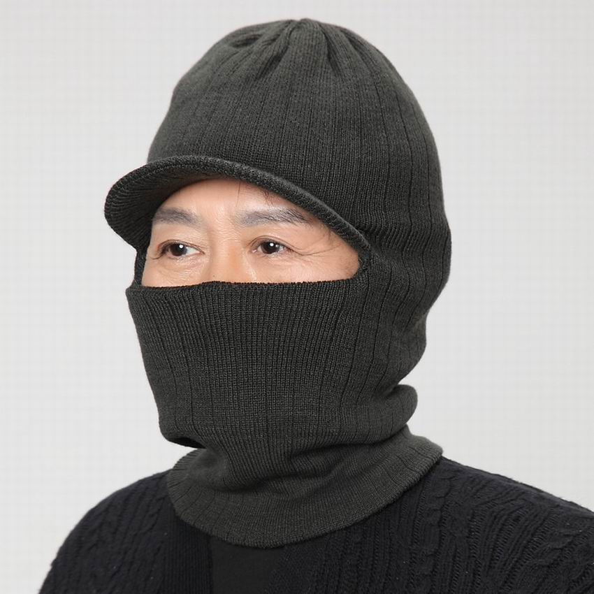 The elderly hat Men yarn winter hat neck protection cap the elderly ear new year gift father winter warm hat outdoor thermal cap(China (Mainland))