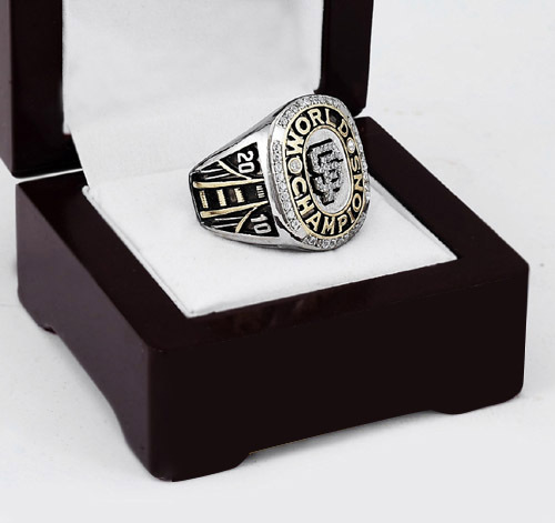 2010 San Francisco Giants MLB World Series Baseball Championship Ring With High Quality Wooden Box Fans Best Gift Size 10-13(China (Mainland))