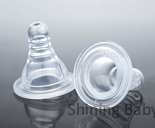 Baby Silicone Nipple Gel Milk Feeder Feeding Infant Nipples for Standard Bottle Dia 4 pieces for 0-3 Years Babys(China (Mainland))