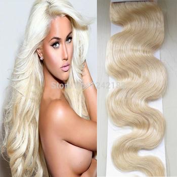 Platinum Blonde Brazilian hair weave bundles 1Pcs/Lot Grade 7A unprocessed virgin brazilian body wave real Human Hai Weave Wavy