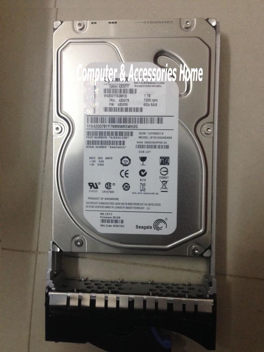1tb internal hard drive hdd sas hard disk 42D0777 42D0778 7.2k rpm SAS 3.5 three years warranty(China (Mainland))