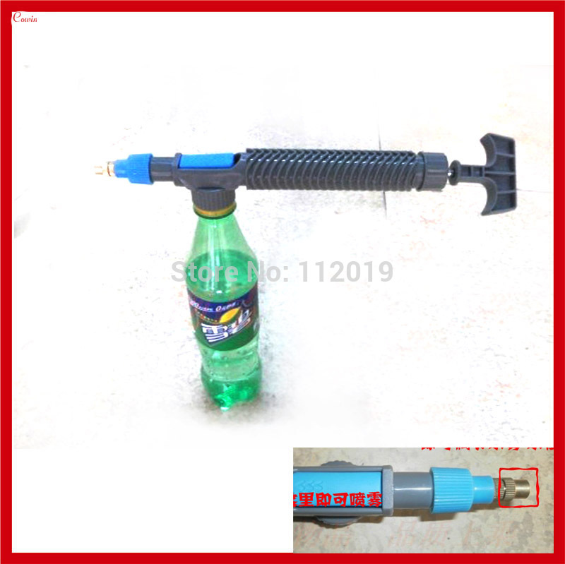 New 5pcs/lot Portable Home Garden Flower Water Sprayer Atomizer Nozzle Pump Bottle Mount Watering Spay Nebulizer Head(China (Mainland))