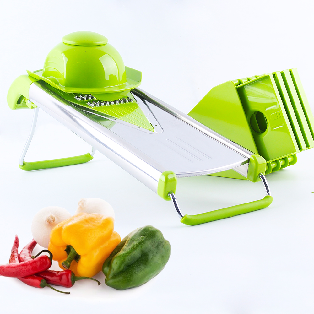 Mandoline Slicer Vegetable Cutter Carrot Julienne Onion Grater Potato Slicer with 4 Stainless Steel Blades Kitchen Tool(China (Mainland))