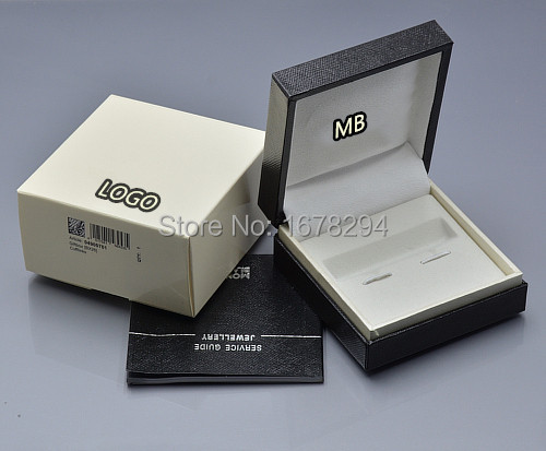 Гаджет  luxury mb cufflinks box Original cuff links black box brand gift packing box With A manual None Офисные и Школьные принадлежности