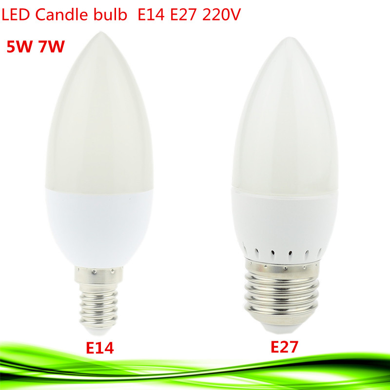 1X 5W 7W Led Candle Bulb E14 E27 220V Save Energy spotlight Warm/cool white chandlier crystal Lamp Ampoule Bombillas Home Light(China (Mainland))