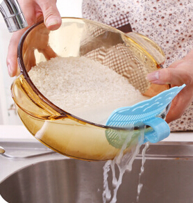 Smile can clip type cleaning rice washing sieve drainer device strainer cooking tools debris filter kitchen