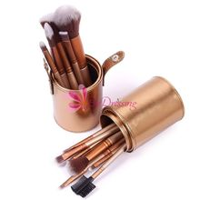 Glod Luxury PU Leather Makeup Brushes Brush Set Holder Carrying Case Make up Accessories 67779