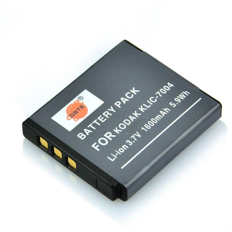 DSTE 1600 mAh KLIC-7004 Rechargeable Battery For KODAK M1033 V1073 V1253 M1093 IS Zi8 FUJI F100fd Pentax Optio S10 S12 Camera(China (Mainland))