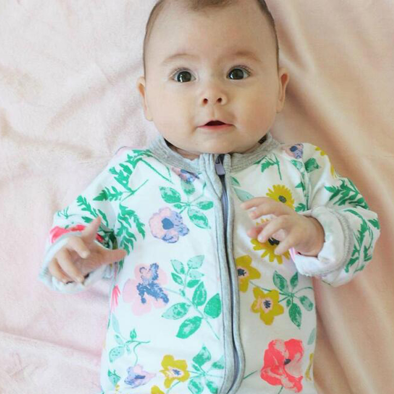 2016 Baby Boy Girls Romper Printing Baby Rompers Cotton Sleep & Play Clothes Baby Pajamas Newborn Baby Girl Clothes Kids Clothes(China (Mainland))