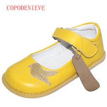 COPODENIEVE את ילדה נעלי ילדים עור אמיתיים נעל עור אמיתי ילדים מקרית דירות סניקרס פעוטות בני נעלי ציפור(China)
