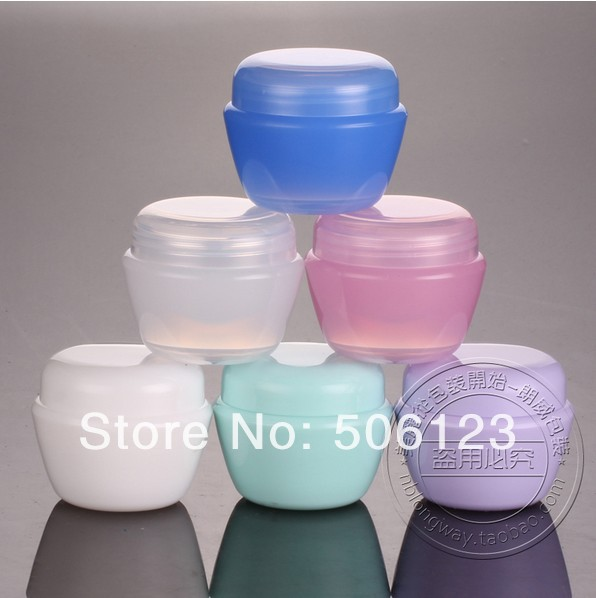 -50G Cream Jar,Empty Cosmetic Eyeshadow Sub-bottling Screw Cap,Small Plastic Makeup Container,3 - bottle's home 506123 store
