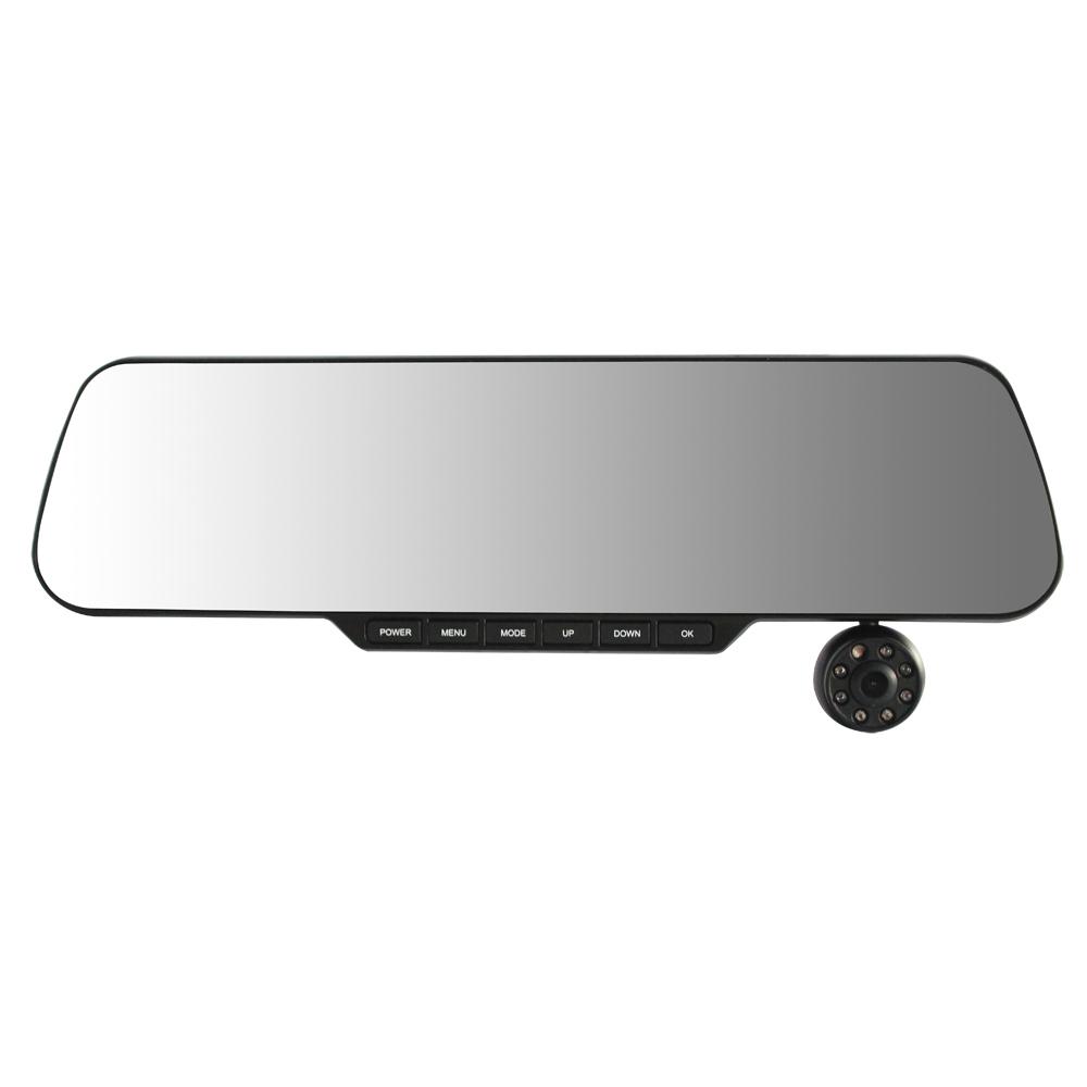 Фотография Car DVR Vehicle Camera Video Recorder,Dual channel Full HD Car Black Box built-in rear view mirror(888)