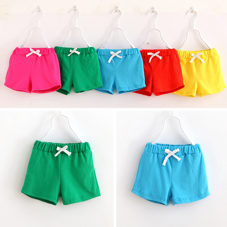 HOT SALE summer kids cotton shorts boys girls shorts cotton candy clothing brand shorts baby clothing(China (Mainland))
