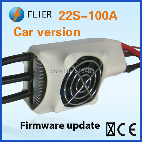Flier Controller esc 22S 100A For brushless motor rc racing Car with program box(China (Mainland))