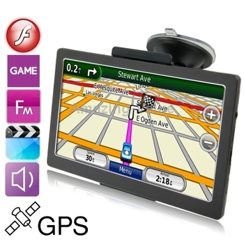 7.0 inch TFT Touch Screen Car GPS Navigator, 800 x 480 pixel,Voice Broadcast, FM Transmitter, Built in 8GB Memory and Map