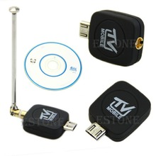 Free Shipping HDTV Mini DVB-T Stick Dongle for Android Tablet Smartphone Black(China (Mainland))