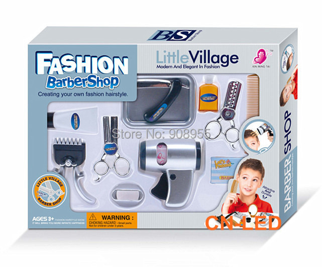 Wps play accessories barber shop salon hairstyle play set for Kitchen set for 2 year old boy