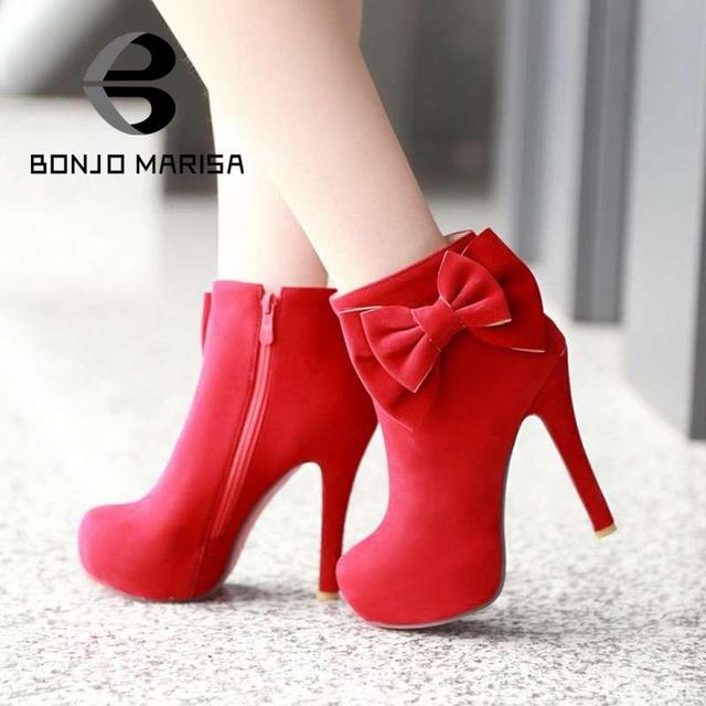 Red Heels With Bow