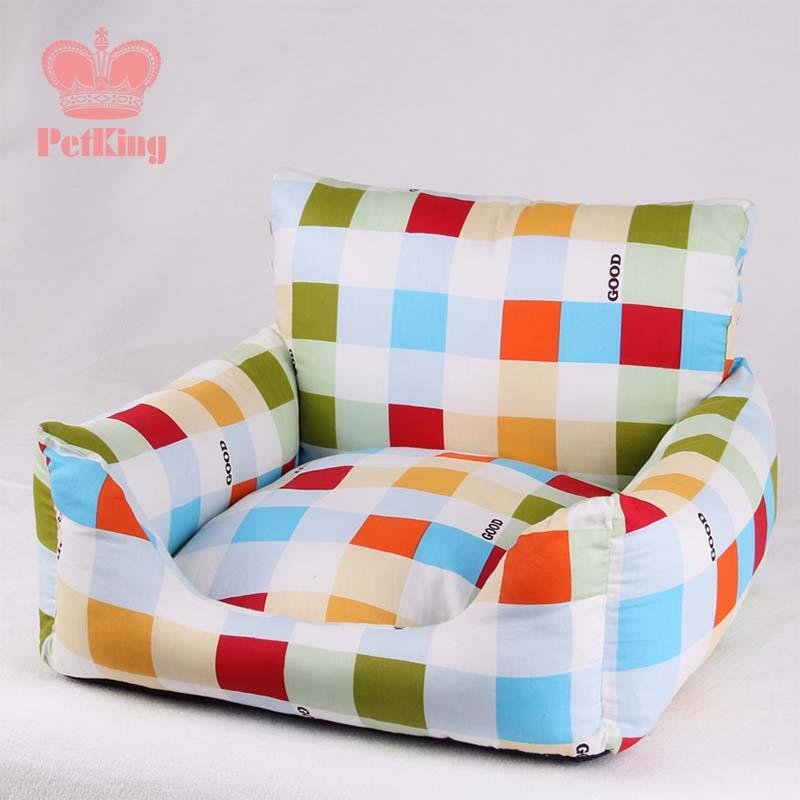 Plaid Small medium dog Dog Cat sofa bed House Kennel Soft Canvas washable luxury dog puppy Chihuahua Bed nest cushion mat