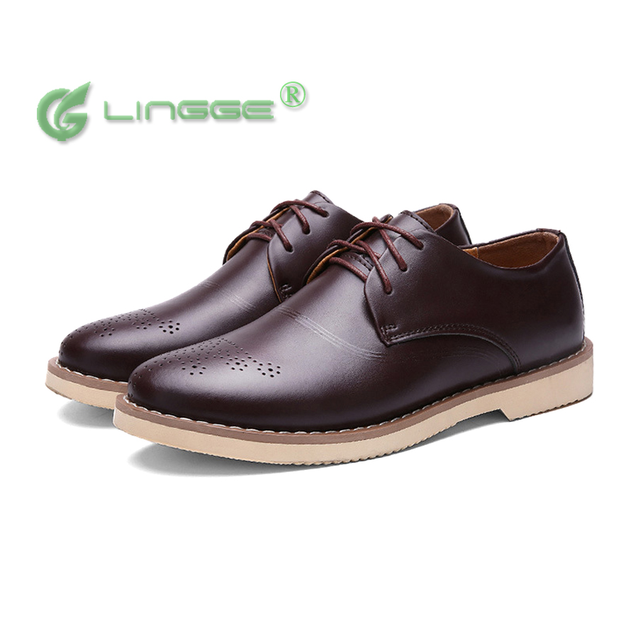 plus size genuine leather summer flat dress shoes