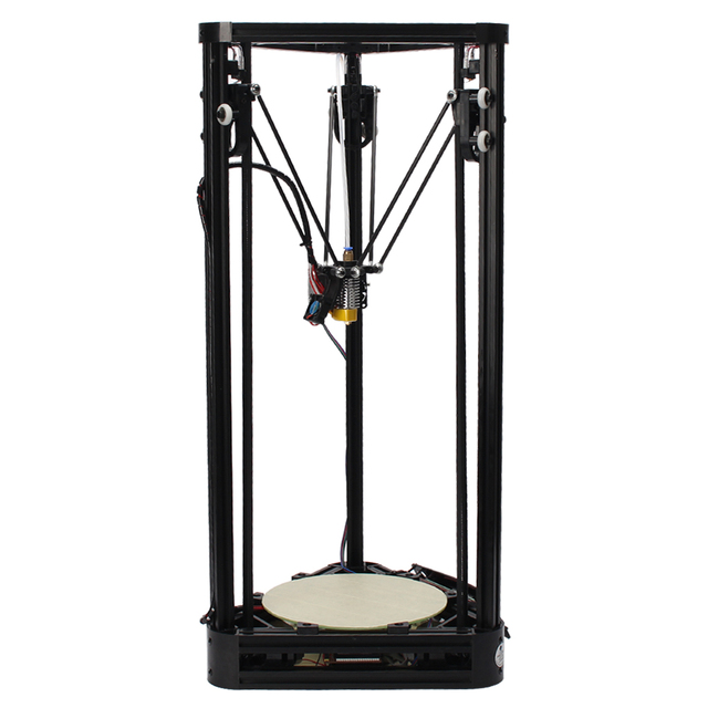 Большой размер 3D Комплект Принтера Полный самосборки Дельта 3d-принтер Коссель Шкив Направляющей Версия DIY Kit 3d-metal комплект принтера