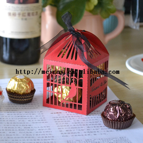 Red wedding picture more detailed picture about paper for Idea door gift jimat
