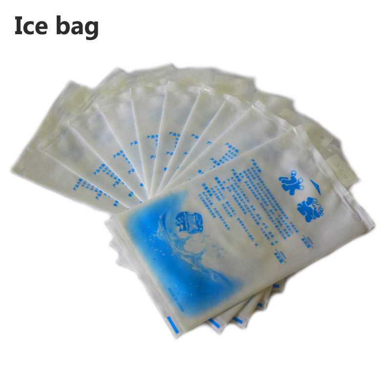 10pcs/lot 400ML thicken nylon gel ice pack reusable Cooler bag for food storage picnic fridge dry ice gelo cold box can coolers