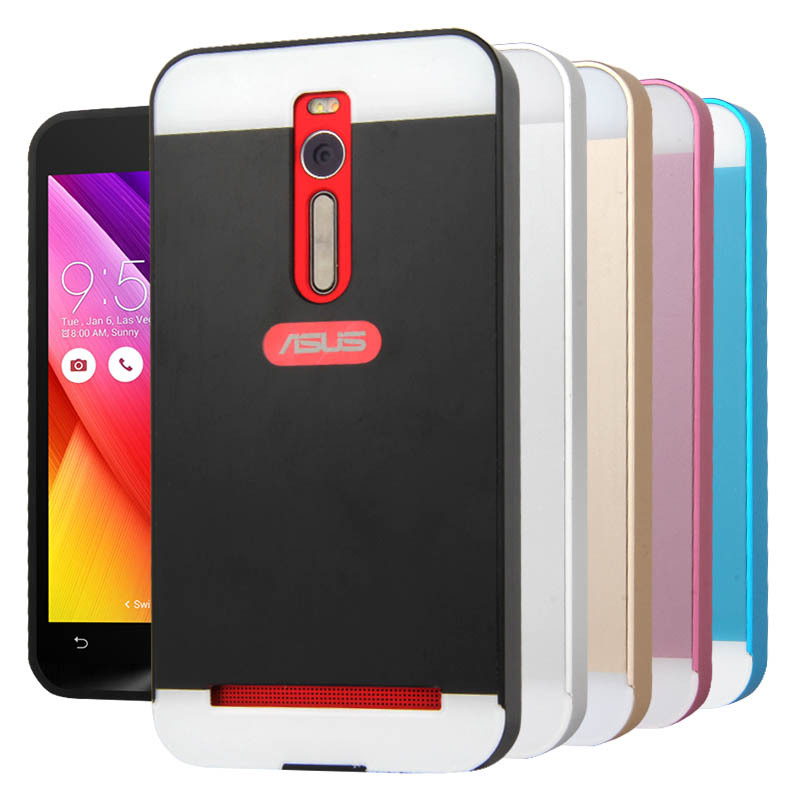 Luxury Metal Aluminum+PC Hard Back Skin Cover Pull Out Protective mobile Phone Case Cover For ASUS Zenfone 2 (5.5) ZE551ML(China (Mainland))