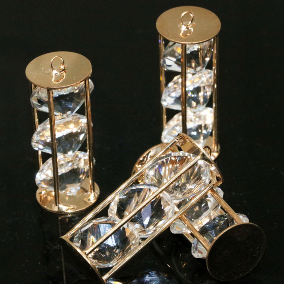 Fashion crystal pendants silver copper plated arc cube cage 9x19mm 15x44mm 25x46mm women diy necklace jewelry 2 pcs B884(China (Mainland))
