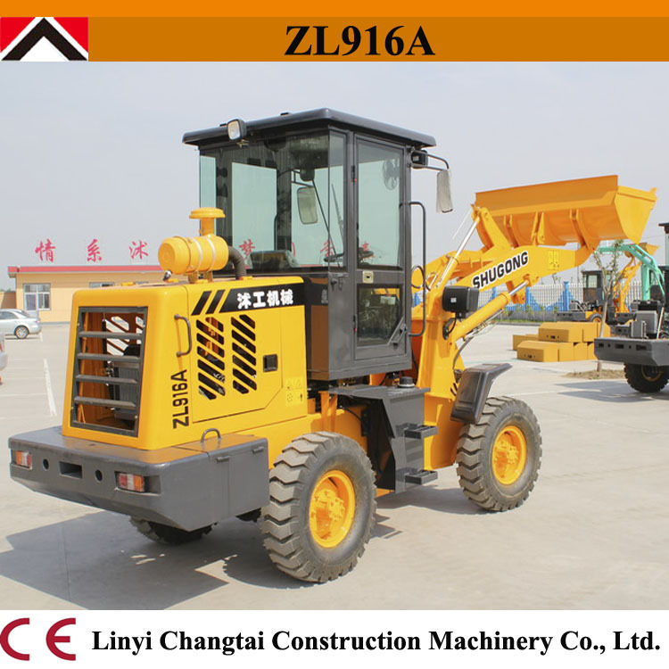 Cheap china made ZL-16/1.5T 1.6T 1.8T small wheel loader for sale with joystick/forklift wheel loader ZL16F(China (Mainland))