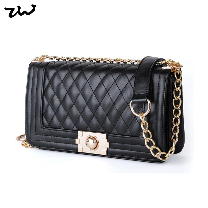 Гаджет  NEW ARRIVAL PROMOTION  2013 Women Handbags Black Colour Vintage Plaid Chain Bag PU Leather Women