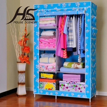 House Scenery Wardrobe Furniture Bedroom Nonwoven Wardrobes Simple Lockers Closet Sundries Storage Cabinet Randomly Delivery(China (Mainland))