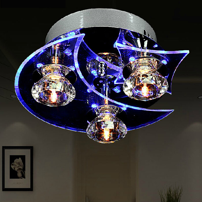 creative crystal ceiling light modern 7W fashion personality moon stars led aisle ceiling light crystal living room light<br><br>Aliexpress
