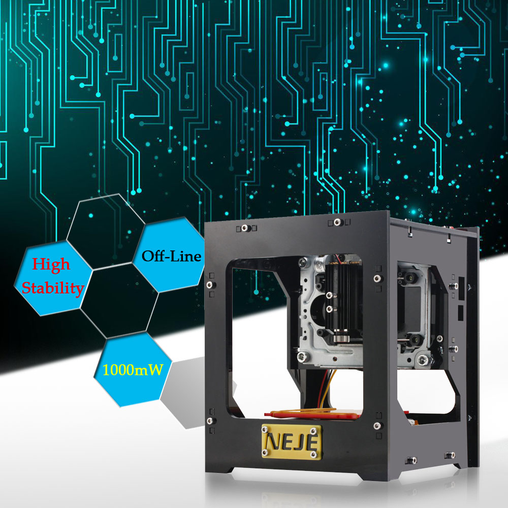 NEJE 1000mW High Speed Mini Laser Engraving Machine USB Engraver Automatic DIY Print Off-line Operation with Protective Glasses(China (Mainland))