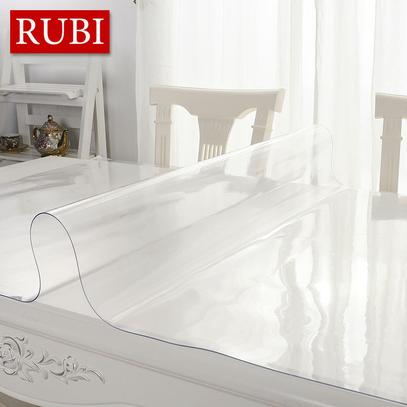 RUBI transparency PVC waterproof table cloth party wedding 60x120cm home kitchen dining placemat pad thickness1.0mm(China (Mainland))