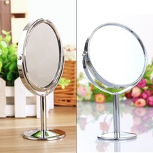 Stainless Steel Holder Cosmetic Bathroom Double-Sided Mirror Desk Makeup-round Brand New(China (Mainland))