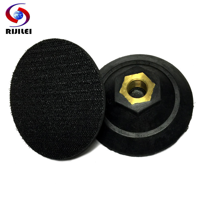 (3JTB-M14) 3 inch/ 80mm sanding pad, Rubber Backer Polishing Pad angle grinder, rubber connetor - RIJILEI GZ Store store