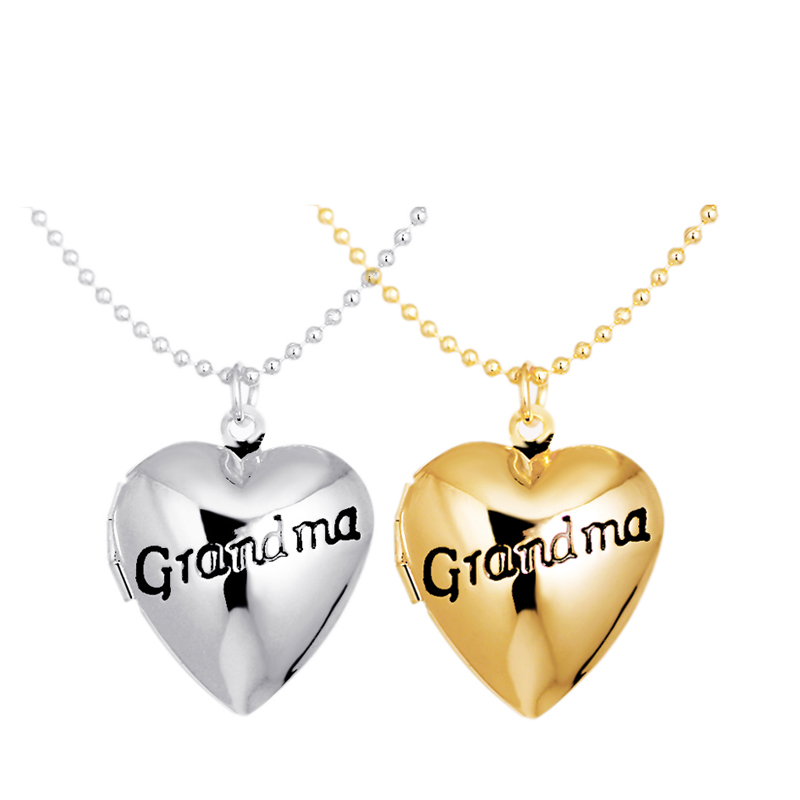 Fashion Jewelry Floating Locket Heart Pendants Vintage Choker Necklace For Grandma Best Birthday Gift $5 Free Shipping A52(China (Mainland))