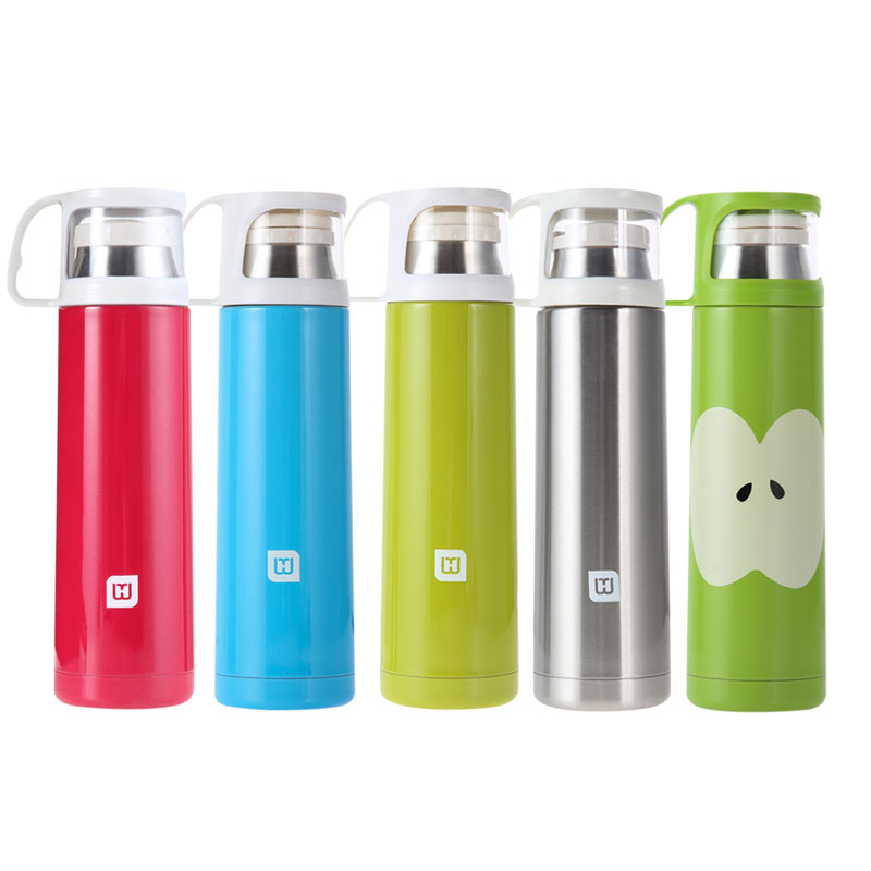 Hot Sale 500ml Travel Mug Stainless Steel Tea Water Coffee Bottle Flask Vacuum Thermos Cup Insulation Cup Keep Hot And Cooling(China (Mainland))
