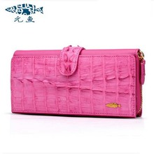 yuanyu The new alligator wallets long imported leather crocodile grain hand bag lady party bags handbags(China (Mainland))