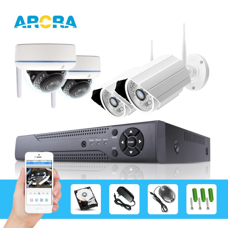 4 Channel 720P 1.0 Mega Pixel CCTV WIFI NVR Kit Security System with 4PCS 1.0 Mega Pixel Wireless IP Camera(China (Mainland))
